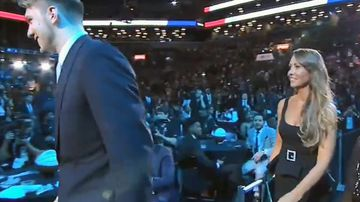 Mystery woman steals the NBA draft