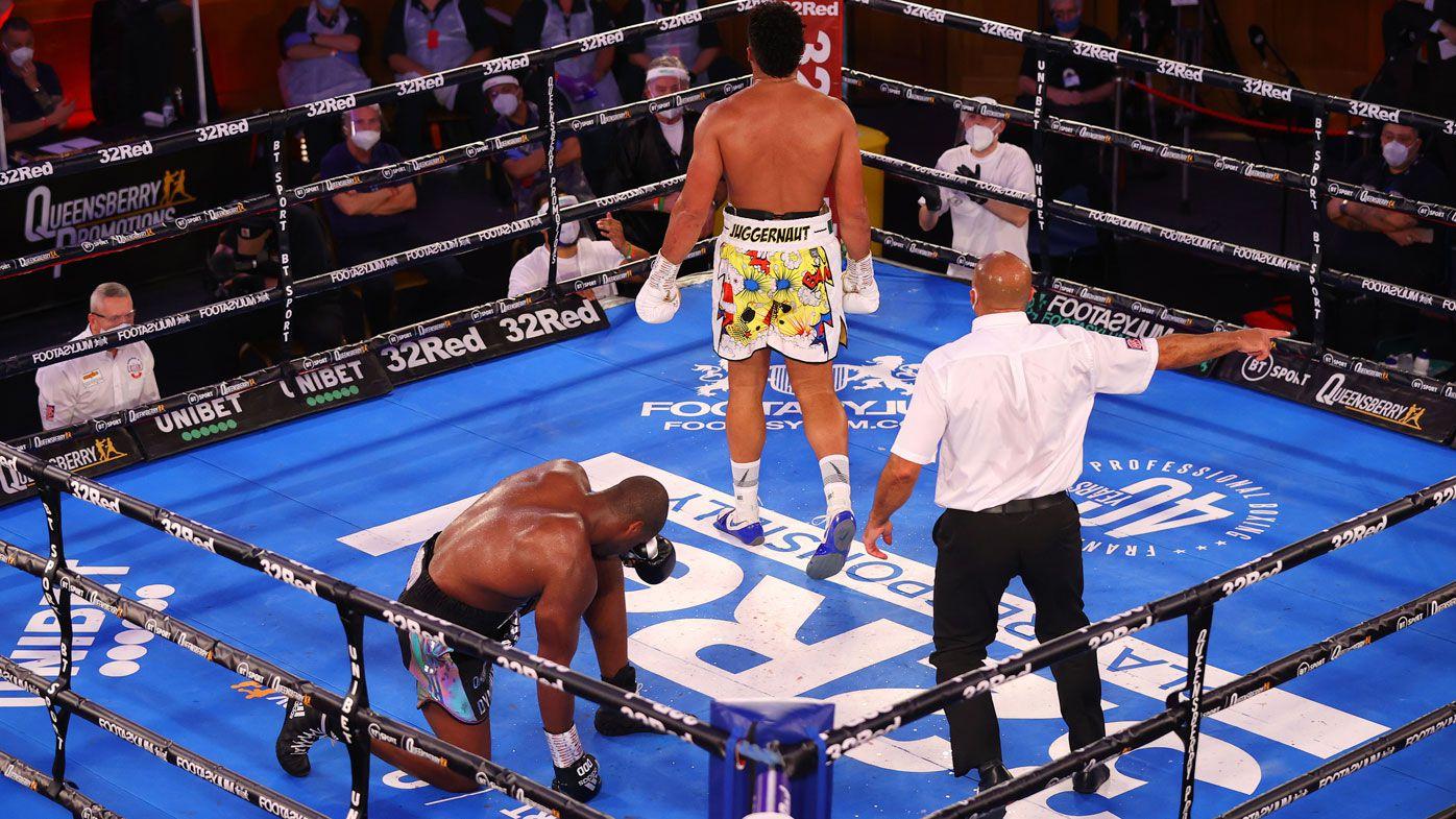 Knockout machine Daniel Dubois cops first loss, taking knee in TKO against Joe Joyce