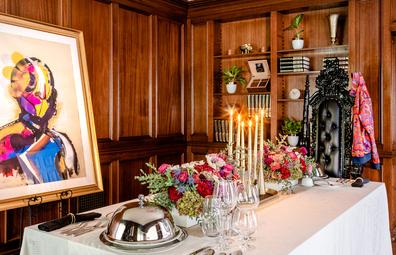 Airbnb Fresh Prince Bel-Air mansion dining room