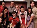 Naya Rivera, Lea Michele, Glee cast
