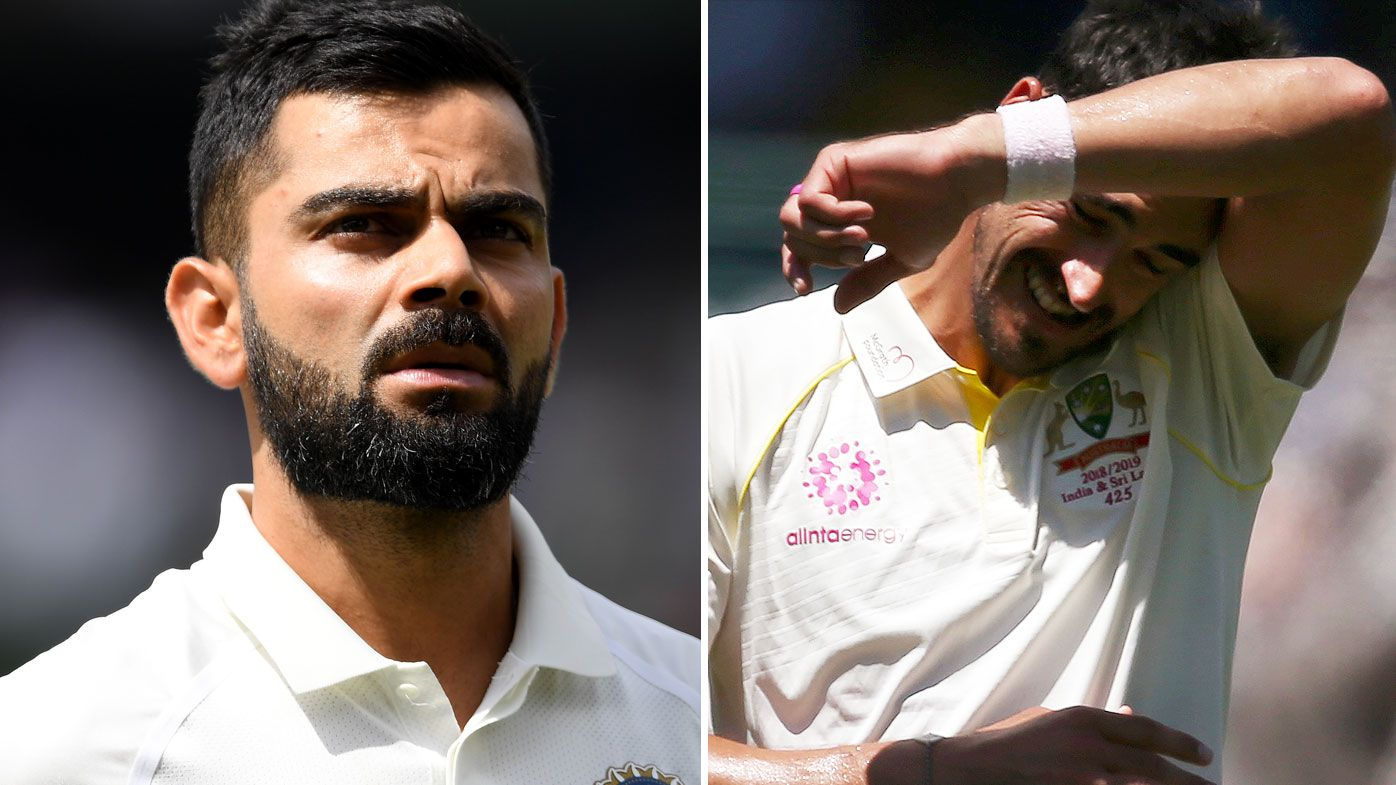 Kohli leaps to Starc's defence