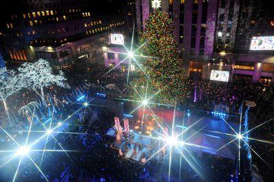Millions watch every year the Rockefeller Christmas Tree Lighting Ceremony in New York City. (Brad Barket/Getty)
