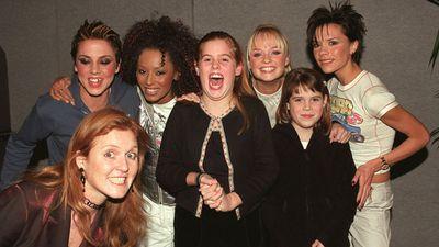 Princess Beatrice and Princess Eugenie meet the Spice Girls, December 1999