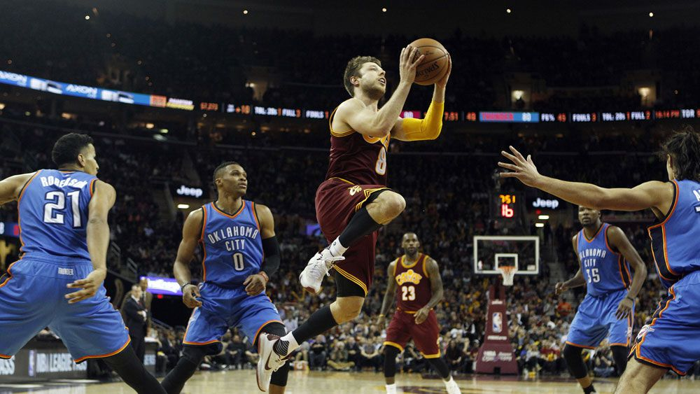 Matthew Dellavedova in action for the Cleveland Cavaliers. (Getty)