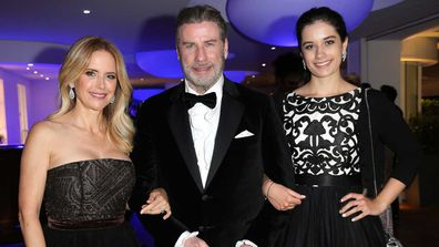 Kelly Preston, John Travolta and their daughter Ella Travolta.