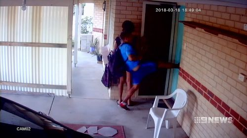 The intruders were captured on security footage. (9NEWS)