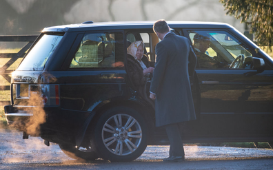 The Queen arrives to attend church