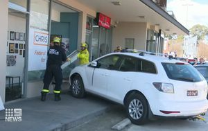 Car drives into Labor MP Chris Bowen's office in Sydney's west