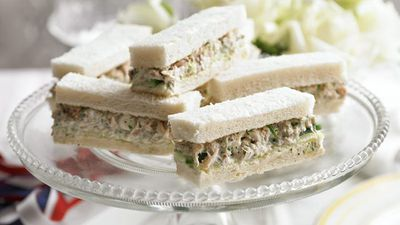"Recipe:&nbsp;<a href=""http://kitchen.nine.com.au/2016/05/16/11/09/cucumber-crab-sandwiches"" target=""_top"" draggable=""false"">Cucumber crab sandwiches</a>"
