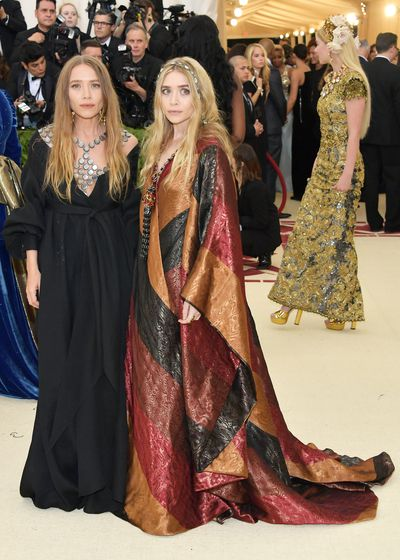 Designers Mary Kate and Ashley Olsen in vintage Paco Rabanne