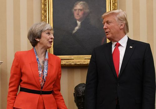 US President Donald Trump is due to meet UK Prime Minister Theresa May when he visits next month. (Photo: AP).