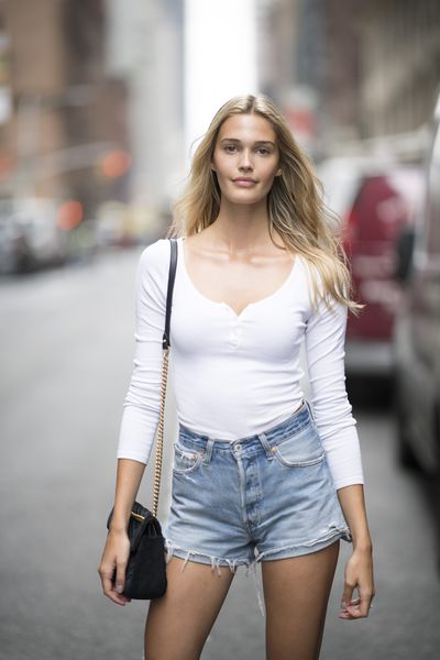 Noel Berry at the Victoria's Secret Casting Call in New York on August 21.