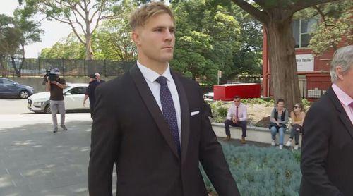 Jack De Belin outside court. November 19, 2020.