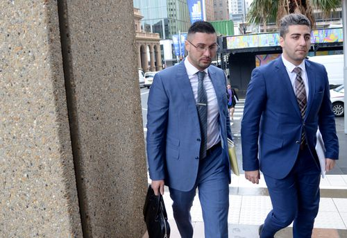 Salim Mehajer was in court today for the proceedings. Picture: AAP