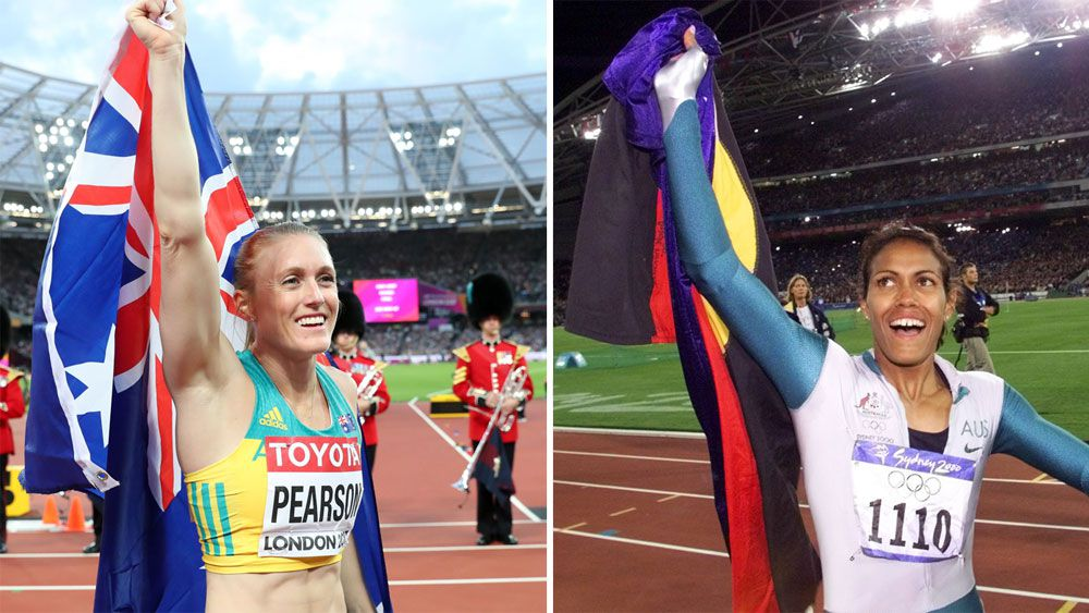 Sally Pearson and Cathy Freeman.