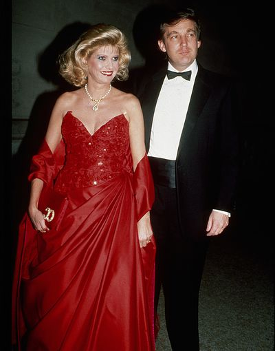 Ivana and Donald Trump at the Met Gala in 1988.