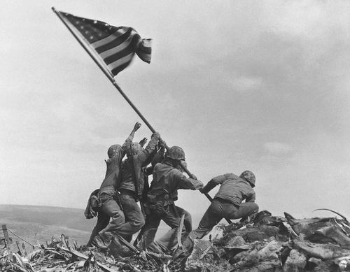 Associated Press photographer Joe Rosenthal took this iconic photo in February 1945.