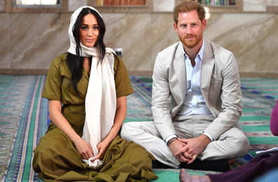 The Duke and Duchess of Sussex visit a mosque in South Africa.
