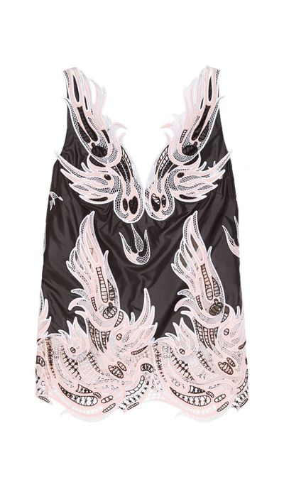 """<p><a href=""""http://www.theoutnet.com/en-AU/product/Christopher-Kane/Guipure-lace-and-shell-top/536622"""" target=""""_blank"""">Guipure Lace and Shell Top, $1,485, Christopher Kane</a></p>"""