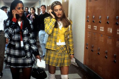 Cher Horowitz and Dionne ( played by Stacy Dash) in matching plaid co-ords.<em> Clueless </em>1995