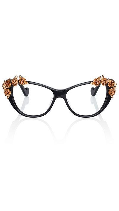 "<a href=""http://www.neimanmarcus.com/en-au/Anna-Karin-Karlsson-Lily-Love-Fashion-Glasses-Black-Golden-Optical-Frames/prod177400243_cat44250741__/p.prod"" target=""_blank"">Lily Love Fashion Glasses, $1,185, Anna-Karin Karlsson</a>"
