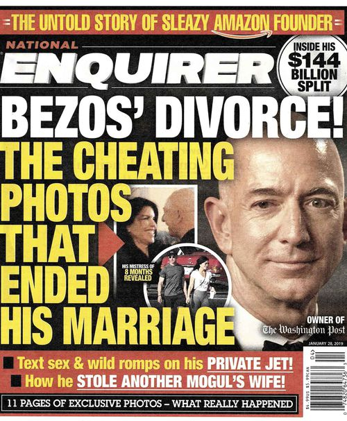 Jeff Bezos' marriage was brought undone by infidelity, reports of which were published by The National Enquirer.