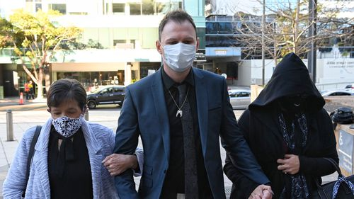 Ute driver Tommy Balla outside the NSW District Court today. aaron vidal