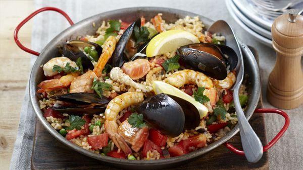 Quick paella