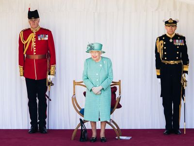 """The Queen's scaled-back """"mini-Trooping"""", 2020"""