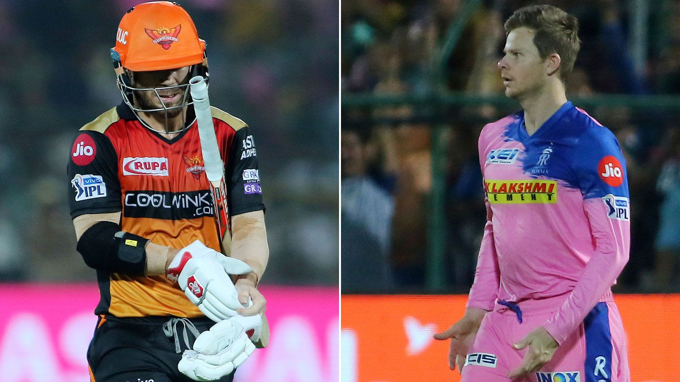 Steve Smith dismisses David Warner with stunning IPL catch as Royals beat Sunrisers