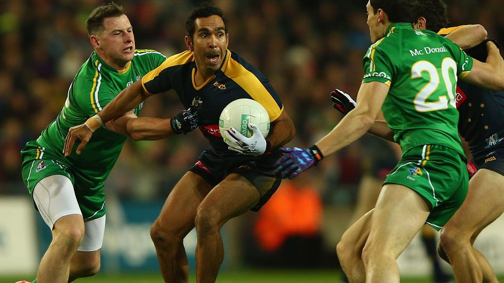 Eddie Betts in action for Australia in the International Rules series. (Getty)
