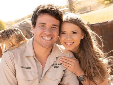 Chandler Powell, Bindi Irwin, engagement ring