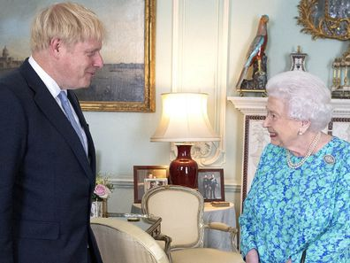 Queen Elizabeth and Boris Johnson