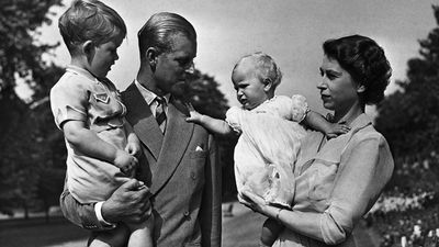 Prince Philip and family, 1951