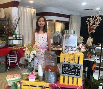 Liza Scott raising money for her own brain cancer surgery lemonade stand