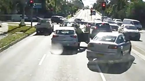 The attack occurred at the Forest Way and Adams Street intersection in Frenchs Forest. Picture: News Corp