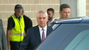 Prince Andrew emerges from hotel hideaway