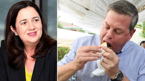 Incumbent premier Annastacia Palaszczuk and opponent Tim Nicholls on election day (Images: AAP)
