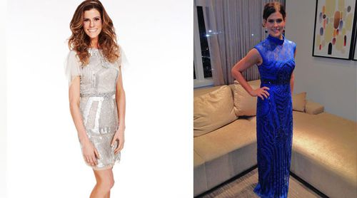 Rachel Frederickson before her weight agin (left) and after (right). (supplied)