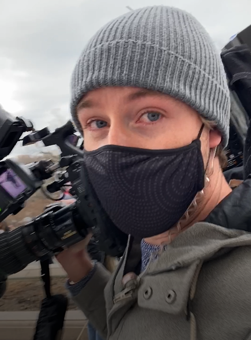 US Bureau Cameraman Nick Richardson was tear gassed in the Capitol attack