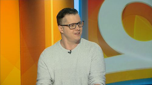 Johnny Ruffo looking in excellent health on the Today Show.