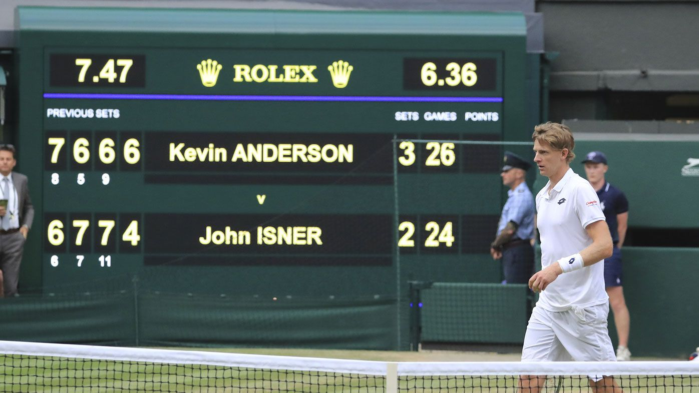 Anderson outlasts Isner in Wimbledon epic