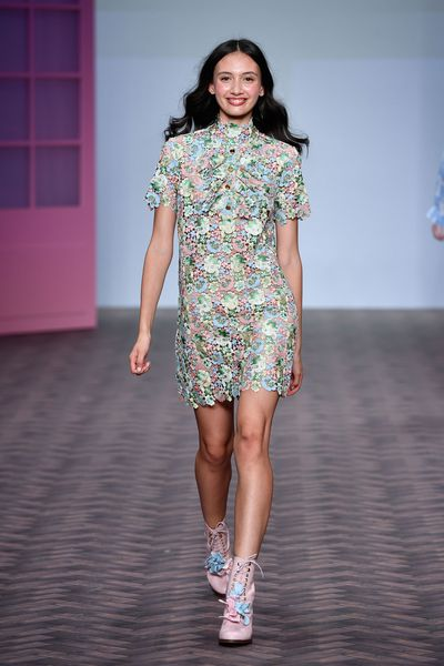 Naughty but nice was the order of the day at Macgraw, where a collection of sugar-sweet designs were delivered with a playful smile and a soundtrack of expletives.