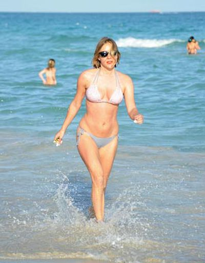 <i>Big Love</i> star Chloe Sevigny showed off her amazing bikini body at South Beach in Miami, Florida.