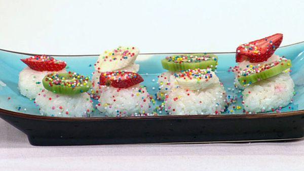 Fruit sushi - culinary kids