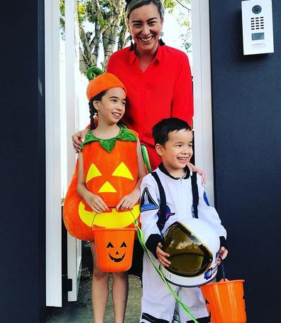 Jessica Rudd with her children.
