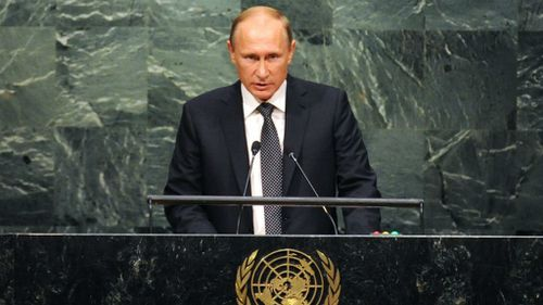 Vladimir Putin calls for broad coalition against Islamic State