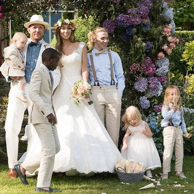 <strong>Who:</strong> Model Jacqui Ainsley married filmmaker Guy Ritchie <br /><strong>Dress:</strong> Phillipa Lepley<br /><strong>Where:</strong> on a country estate in Wiltshire, England