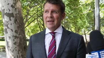 Former NSW premier Mike Baird arriving at ICAC to give evidence in a corruption inquiry investigating the conduct of former premier Gladys Berejiklian during her secret relationship with disgraced former MP Daryl Maguire.