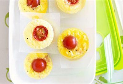 Mini ham, cheese and tomato frittatas
